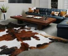 Transform Your Living Room With A Cowhide Rug